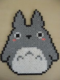 Totoro Perler by Optimist-Pryme.deviantart.com on @DeviantArt