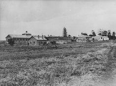 Prison buildings on St Helena Island, Brisbane, Queensland, circa 1928 Brisbane Gold Coast, Brisbane City, Saint Helena Island, St Helena, Brisbane Queensland, Sunshine State, Historical Photos, Ancestry, Continents