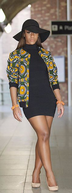 Ankara bomber jacket - this versatile piece is so in this season. Up trend the…