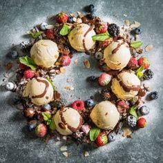 Helemaal kerst: ijskrans met fruit en chocolade #kerst