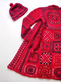 Mulla on kalenteri, johon kirj Crochet Jacket Pattern, Crochet Coat, Granny Square Crochet Pattern, Crochet Granny, Crochet Clothes, Crochet Patterns, Crochet Handbags, Crochet Fashion, Mantel
