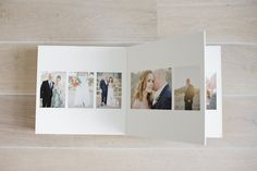 Queensberry Wedding Album - Overlay Matted Album with Tintoretto art paper - Eggshell Micro Leather Cover | Polly Alexandre Photography