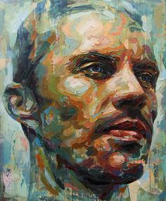 painting Ideas Portrait - Powerful Palette Knife Paintings Capture Vulnerability of Men with Mental Health Issues. Abstract Portrait Painting, Oil Painting On Canvas, Portrait Paintings, Oil Paintings, Acrylic Paintings, Abstract Art, Yarn Painting, Image Painting, Figure Painting