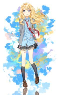 Miyazono Kaori - Shigatsu wa Kimi no Uso - Mobile Wallpaper - Zerochan Anime Image Board Miku Chibi, Anime Chibi, Kawaii Anime, Art Manga, Manga Girl, Anime Art, Anime Girls, Me Me Me Anime, Anime Love