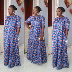 Creative Ankara Long Gown Design http://www.dezangozone.com/2016/06/creative-ankara-long-gown-design_29.html