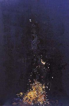 """""""Anima fragile"""" rappresenta una forte esplosione emotiva, una frattura che rompe la corazza ,che nonostante ciò resta intatta. Un' esplosione di fiori e grano, che rimanda ad una pioggia"""