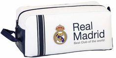 Real Madrid Club - Schoenentas / Toilettas - 34 cm - Wit  #premierleague #cadeau #voetbalkids #laliga #voetbal