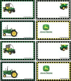 I printed these for Owen's tractor party! They are free!