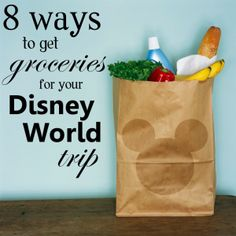 8 ways to get groceries for your Disney World trip. Favorite tip is: gas stations located on-site at Disney World – there is a location across the street from Downtown Disney and 1 across from the Boardwalk Resort. Disney Hotels, Disney World Resorts, Disney World Trip, Disney Vacations, Disney Parks, Disney Worlds, Disney Cruise, Disney World Tips And Tricks, Disney Tips