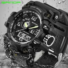 Cheap masculino, Buy Quality masculinos relogios directly from China masculino watch Suppliers: SANDA men's uniforms sports watch men's top brand luxury famous electronic LED digital watch male clock Relogio Masculino Cheap Watches, Casual Watches, Cool Watches, Women's Watches, Mens Sport Watches, Luxury Watches For Men, Waterproof Sports Watch, Digital Wrist Watch, Top Luxury Brands