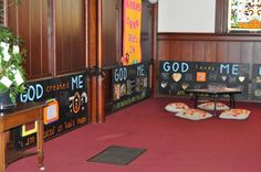 Interactive Worship Boards (in the main sanctuary) to engage young children in worship and reflection