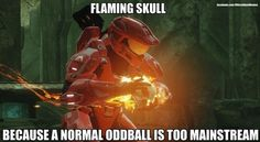 Flaming Skull - Halo