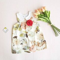 Tea Rose Dress in Empress Flower