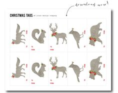 FREE PRINTABLE CHRISTMAS TAG! christmas-tags-woodland-download-now @jonesdesigncompany.com