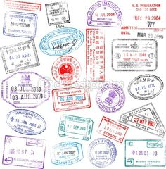 Im hoping that my passport will look like this someday. Ya know, when i get a passport..