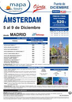 Amsterdam Puente de Diciembre salida Madrid 5 Dic.**Precio Final desde520** - http://zocotours.com/amsterdam-puente-de-diciembre-salida-madrid-5-dic-precio-final-desde520-7/