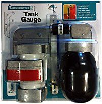"""Liquidator-2 with Extension (for tanks up to 20 feet deep)  Requires a length of 2"""" PVC or other round or square pipe (not included), equal to the tank height, for the guide pipe. True Reading: Shows the accurate water level in the tank, unlike homemade pulley systems which go up when the water level goes down. Highly Visible: The bright aluminium indicator with its red band can be seen from..."""
