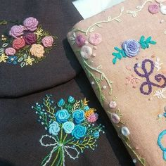 #Embroidery#stitch#needlework  #프랑스자수#일산프랑스자수#자수 #하나,둘. . sy님의 예쁜 소품들~