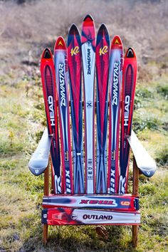 this is awesome and probably ridiculously expensive to make, unless you save your old skis until you're sixty.