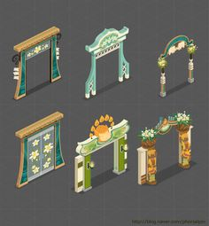 Mobile Interiors Gui Interface, 3d Mobile, Tower Games, Building Concept, Game Environment, Fantasy House, Cute Games, Cute House, Game Assets