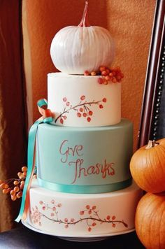 Thanksgiving Cake by Three Little Blackbirds