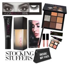 """""""#PolyPresents: Stocking Stuffers"""" by elsa-ebervik on Polyvore featuring beauty, Huda Beauty, contestentry and polyPresents"""