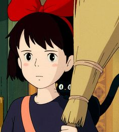 Studio Ghibli -- Jiji is so cute! Hayao Miyazaki, Totoro, Studio Ghibli Art, Studio Ghibli Movies, Le Vent Se Leve, Castle In The Sky, Manado, Fan Art, Animation Film