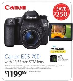 Canon EOS 70D with 18-55mm STM lens 70d, Canon Eos, Binoculars, Remote, Lens, Technology, Tech, Tecnologia, Engineering