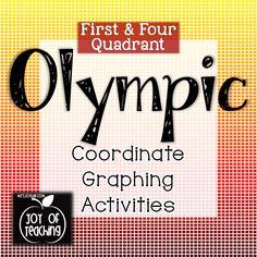 Coordinate Graphing for the OLYMPICS!  Joy of Teaching mrsjoyhall.com $