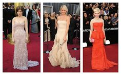 fuse these three dresses and katniss would've had one hot interview gown. #hungergames