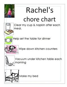 2-3 year old chore chart