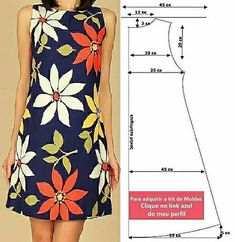 Dress Sewing Tutorials, Dress Sewing Patterns, Sewing Patterns Free, Clothing Patterns, Sewing Clothes, Diy Clothes, Diy Summer Clothes, Fashion Sewing, Simple Dresses
