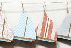 sailboat garland for coastal living decoration by cozyhomebytj