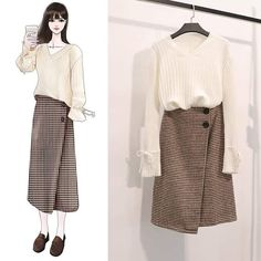 Perfect Clothing Colour Combinations For 2020 Ulzzang Fashion, Asian Fashion, Modest Fashion, Fashion Dresses, Skirt Fashion, Stylish Outfits, Cute Outfits, Dress Sketches, Fashion Design Sketches