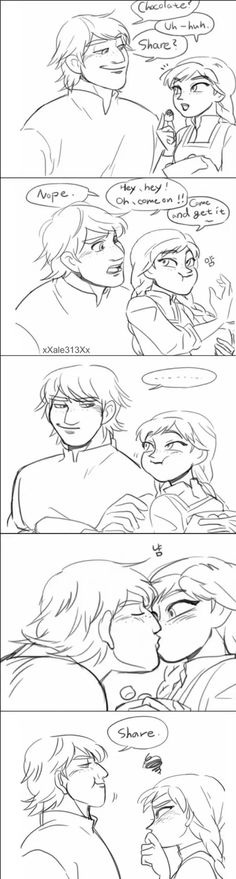 Yeah, I can totally see him doing this! XD HAHAHA!!! Anna & Kristoff! <3 #Chocolate