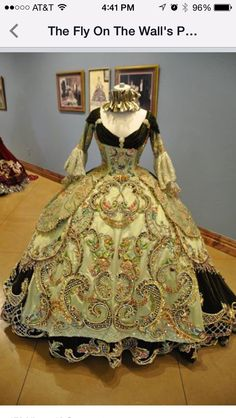 18th Century period Ball Gowns (replicas) designed by Linda Leyendocker Gutierrez and Niti Volpe for the Society of Martha Washington Colonial Pageant and Ball in Laredo, Texas.   These dresses weighed in at 80 lbs and were usually worn by girls in their teens. Lovely!