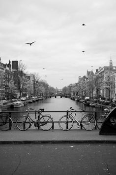 Amsterdam Canal Black & White Print by Kspencerjones on Etsy, $45.00