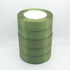 "New 25 Yards 1"" 25mm Green Bulk Satin Ribbon DIY Craft sewing Supplies crafts #Newandunused"