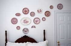 A plate wall makes a great statement. Its