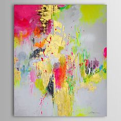 [Xmas Sale] Oil Painting Abstract #1305-AB0590 Hand Painted Canvas - AUD $89.00 on 'lightinthebox.com' ★★★