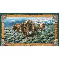 Quilting Treasures Where the Buffalo Roam 24988-X Buffalo panel 23inch x WOF