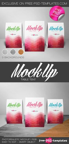 Free Table Tent Mock-up in PSD | Free PSD Templates