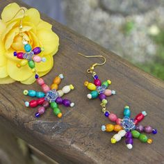 Use wood beads and seed beads to create summery fun accessories!!