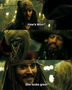 funny, pirates of the caribbean, and mom image