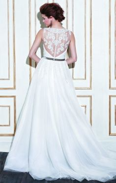 Blue by Enzoani wedding dress with lace back