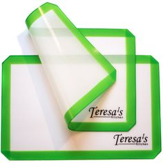 Teresa's Kitchen - Silicone Baking Mat - Nonstick - Baking Sheet for Oven or Toaster Oven - Cookie Sheets - Green - Set of 2 *** Check this awesome product by going to the link at the image.