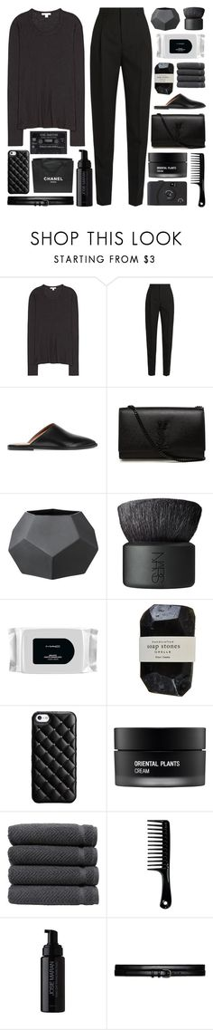 """It's not the way you plan it, it's how you make it happen"" by pure-and-valuable ❤ liked on Polyvore featuring James Perse, Yves Saint Laurent, All Tomorrow's Parties, Bloomingville, NARS Cosmetics, MAC Cosmetics, Cassia, Case-Mate, Koh Gen Do and Linum Home Textiles"