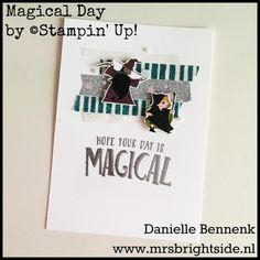 Myths & Magic dsp, magical day stamp set and Myths & magic specialty Washi tape. Stampin' Up! Www.mrsbrightside.nl