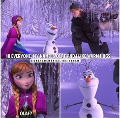 Olaf's face in that last picture is the one I give family members who know me but I don't remember them!