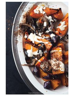 roasted butternut squash and red onion with tahini and zatar from ...